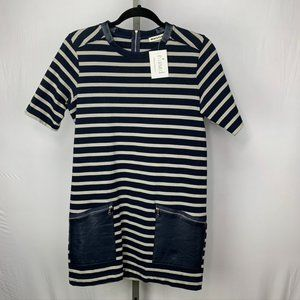 Whistles short sleeve striped mini